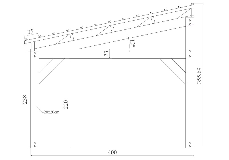 Contact pologne carports robustes for Largeur voiture standard